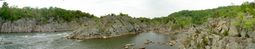 Panoramic near Great Falls, MD